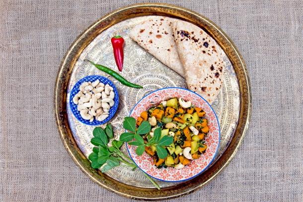 Aloo Methi Hot Salad