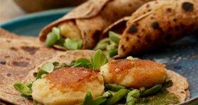 Sour and Spicy Potato Wraps