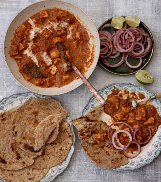 Masala-Paneer-with-layered-lachcha-paratha